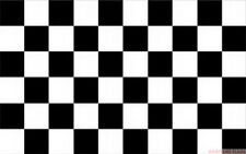 """BLACK & AND WHITE CHECKERED 18"""" x 12"""" FLOOR STANDING FLAG & WOODEN BASE"""