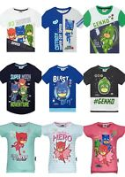 Boys Girls Kids Children Pj Masks Short Sleeve Tee Tshirt Top Age 2-8 years