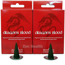 2 X DRAGONS BLOOD Incense/Fragrance/Joss Cones & Ritual Holder Insence/Insense