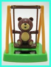 Solar Powered Swing Dancing Bear Novelty Collectible Toy Bobble Head Sun Powered