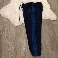 Umbro Womens Track Pants Blue Diamond Pocket Drawstring Cotton Blend M