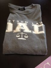 Stetson Law Dad T-Shirt Gray (Grey) Size Medium FREE SHIP