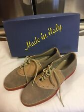 Vintage 1970's-1980's Abhadabbas Leather & Suede Saddle Shoe Womens 6.5 N -Italy