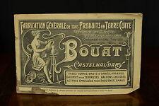 BEAU CATALOGUE BOUAT CASTELNAUDARY POT A GRAISSE JAUNE CONFIT POT 1900 RARE