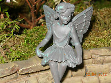 Miniature Rustic Green Verde Evelyn Fairy For Fairy Garden Or Doll House Garden