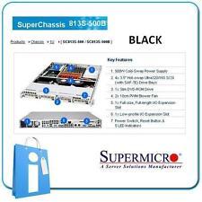 Supermicro 813s-500b 500w Black - 1 u rack Server chassis Cse-813s-500b