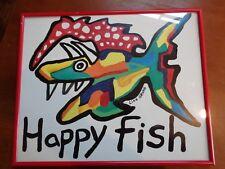"LISA GRUBB ""Happy Fish""  Framed Print"