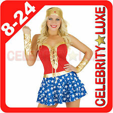 New Sexy Wonder Woman Super Hero Ladies Fancy Dress Up Costume Party Superhero