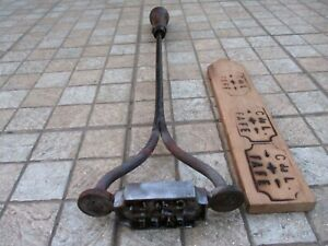 Antique Branding Farm Tool in Iron Rare Huge Hot Fire Stamp Seals For Wood Fafe