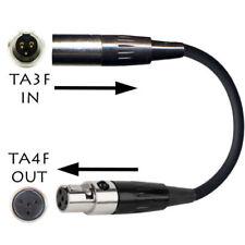 Cavi, prolunghe e terminali professionali adattatore/convertitore audio XLR (3-pin) maschi