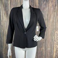 Stitch Fix Kensie Stretch Crepe Blazer Black Medium 3/4 Sleeve One-button