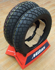 Mitas MC19 Dirt Flat Track Scooter Tires Grom Tires 120/80-12 130/80-12 PAIR NEW
