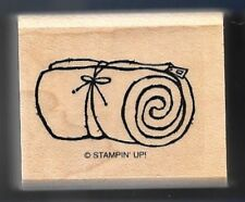 BED ROLL SLEEPING BAG Camp Gear STAMPIN' UP! Under the Stars wood RUBBER STAMP