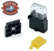 Genuine MTA Inline Blade Fuse Holder with lid and base, Camper, car auto, Marine