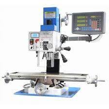 PM-25MV VERTICAL BENCH TOP MILLING MACHINE, 3-AXIS DRO VAR SPEED FREE SHIPPING!