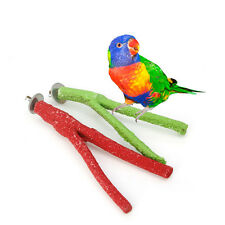 Pet Bird Parrot Claw Paw Chew Rod Toys Cockatiel Parakeet Budgie Stand Branch