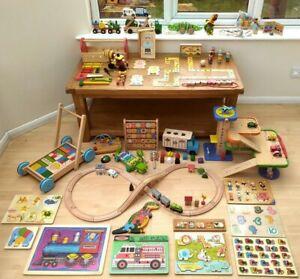 Very large wooden toy bundle Montessori educational preschool toddler baby