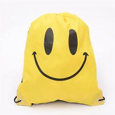 String Drawstring Back Pack Sack Gym Tote Cinch Bag School Sport Travel Shoe Bag