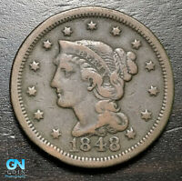 1848 Braided Hair Large Cent --  MAKE US AN OFFER!  #B6281