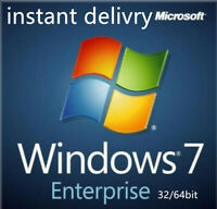 Windows 7 Enterprise 32bit & 64bit Activation Key License code instant delivery