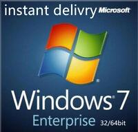 Windows 7 Enterprise 32bit & 64bit Activation Key License code +download link