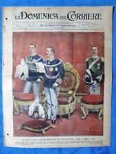 La Domenica del Corriere 19 agosto 1900 Vittorio Emanuele III - Roma - Umberto I