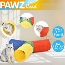 Pet Cat Tunnels Colorful Cat Kitten Play Funny Toys 3 Way Foldable Tunnels Toys