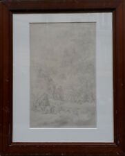 JOHANN JACOB HOCH EXALTATION CROIX CHRIST JESUS SAINTS DESSIN CRAYON ALLEMAND