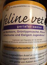 feline vet geriafer senior Tbl  230g Grünlippmuschel, Weißdorn, Artischocke,