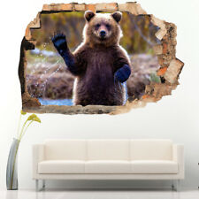 Wall Stickers Bear River Woods Wave Kids  Bedroom Girls Boys Room Kids F546