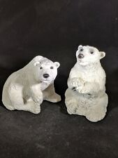 Stone Critters Polar Bear Pair Made In The Usa