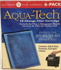 AquaTech EZ Change Aquarium Filter Cartridge 20 - 40/30 - 60 Power Filters 6Pack