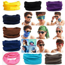 Colors Solid Tube Scarf Bandana Head Face Mask Neck Gaiter Snood Headwear Beanie