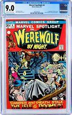 Marvel Spotlight #4 CGC 9.0 OW-W KEY Werewolf by Night. 1st Darkhold, Buck Cowan
