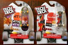 2 x TECH DECK 96 mm FINGERBOARD SKATEBOARDS CHOCOLATE & ATM, S. 5 - NEW/SEALED