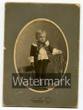 Cabinet Card Photo  Id'd Adolph Pearson Genealogy Ancestry Evansville MN