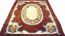 """Antique vintage Turkish handmade hand-knotted thick rug 74""""x 104"""" pure wool #303"""