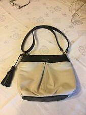 Tignanello Two tone shoulder or cross body bag w/ tassle