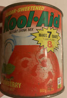 Kool Aid Vintage Tin Can 23oz Strawberry Drink Mix Advertising Beverage Empty