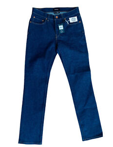 Men's Brixton reserve jeans W32 L34 low rise straight leg button fly stretch NWT