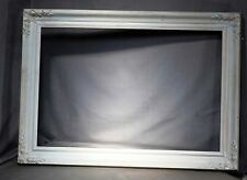 Vintage Country French Chalky White Red Bole Gilt Picture Frame 20x30 Florentine