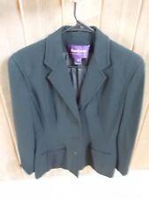 Vintage Ralph Lauren Collection Purple Label Black Classic 3 Button Blazer Sz 10