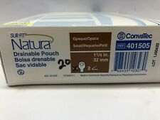 ConvaTec Sur-Fit Natura Drainable Pouch (20) 32 mm Ref # 401505