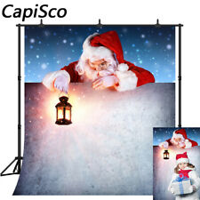 Photography Backdrops Merry Christmas Santa Claus Present Brick Wall Backgrounds