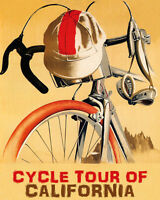 POSTER CYCLE TOUR OF CALIFORNIA BICYCLE USA CYCLING BIKE VINTAGE REPRO FREE S/H