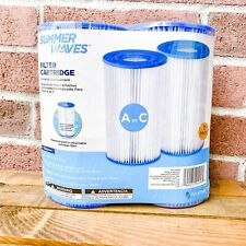 New Summer Waves 2 Pack Type A or C Pool Replacement Filter Cartridge Intex A/C