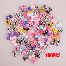 100pcs Bowknot Design 3D Resin Charms DIY Studs False Nails Art Ideas Arts