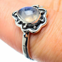 Rainbow Moonstone 925 Sterling Silver Ring Size 7.5 Ana Co Jewelry R26600F