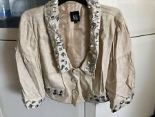 New LILI Jacket Sz 14 Gold shimmer with Sew on Gem amazing Detail FREE POSTAGE