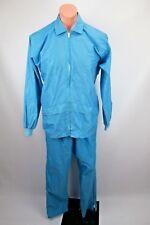 Forrester's VTG 60s Mens 2pc Rain Suit Pants Jacket Windbreaker Snow Baby Blue L
